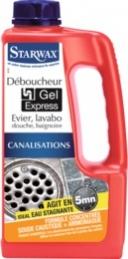 Déboucheur gel express 5mn cuisine salle de bain 1L