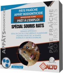 Appât raticide et souricide - Pâtes fraîches - Brodifacoum - 150 grs - ALTO
