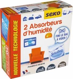 2 sachets Absobeurs d'humidité - Sekobag - 20 m² - SEKO