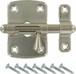 Targette pêne ronde - Nickelé - 35 mm - VACHETTE