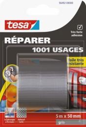 Ruban adhésif réparation - 1001 usages - 5 M x 50 mm - Gris - TESA