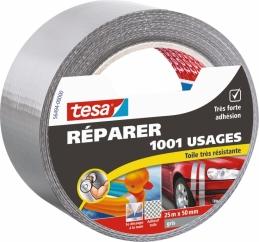Ruban adhésif réparation - 1001 usages - 25 M x 50 mm - Gris - TESA