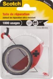 Toile adhésive de réparation - 3 M - Noir - SCOTCH