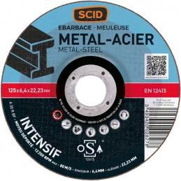 Disque à ébarder - Usage intensif - Spécial métaux - 125 mm - SCID