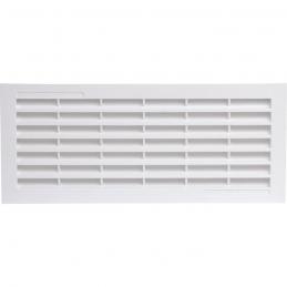 Grille d'aération horizontale avec moustiquaire - 338 x 132 mm - Blanc - GIRPI