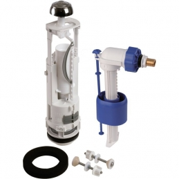 Kit mécanisme complet de WC 357 - Poussoir double débit avec flotteur - SIDER