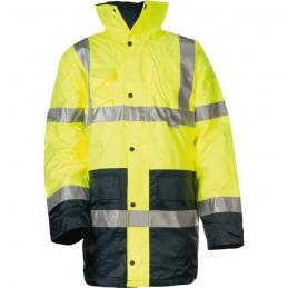 Parka de travail haute visibilité Hi-Way - Imperméable - Polyester - Fluorescent - Taille XL - COVERGUARD