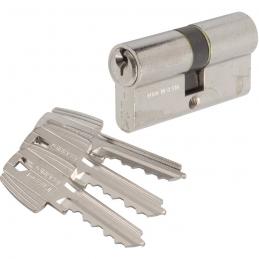 Cylindre à 2 entrées TE5 Nickelé - 90 x 40 mm - TESA