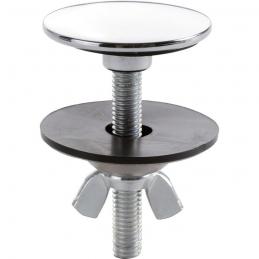 Cache trou lisse chromé - 42.5 mm - NICOLL