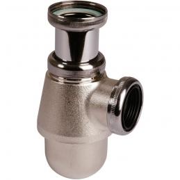 Siphon de lavabo et bidet - Laiton nickelé mat - 32 mm - VALENTIN