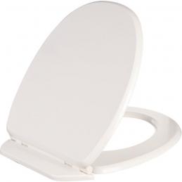 Abattant WC en bois compressé - Double - Saphir - Blanc - OLFA