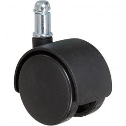 Roulette de chaise à clipser - 50 mm - Tige lisse - série S49 TL - CAUJOLLE