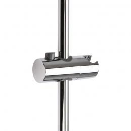 Curseur pour barre de douche chromé avec poussoir - 25 mm - SIDER