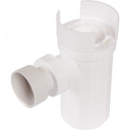 Siphon pour groupe de sécurité avec déflecteur - Plastique - Blanc