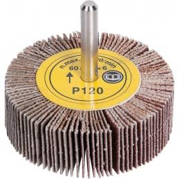 Roue abrasive à lamelles - Corindon - 60 mm sur tige - Grain 120 - SCID