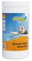 Désinfection choc - Brome Choc en granulés - 1 Kg - PLANET POOL