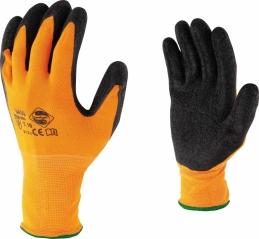Gants en nylon - Paume latex - Haute visibilité - Taille 8 - OUTIBAT