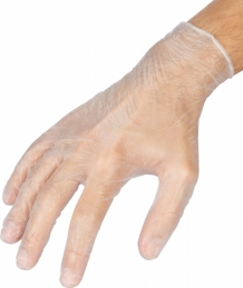 Boîte de 100 gants en vinyle - Usage Unique - M - Transparent - OUTIBAT
