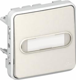 Poussoir porte-étiquette lumineux (voyant fourni) Plexo - Blanc - LEGRAND