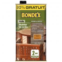 Huile Teck pour rénovation bois - Ravive et protège - 1.2 L - BONDEX