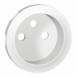 Enjoliveur Céliane pour prise de courant 2P+T standard - Blanc - LEGRAND