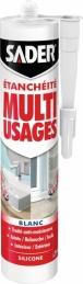 Mastic d'étanchéité Multi-usages - Blanc - 280 ml - SADER