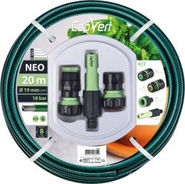 Batterie tuyau d'arrosage Neo 3 couches + raccords - 19 x 20 M - CAP VERT