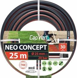 Tuyau d'arrosage Neo concept - 6 couches - 25 x 25 M - CAP VERT