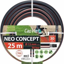 Tuyau d'arrosage Neo concept - 6 couches - 15 x 25 M - CAP VERT