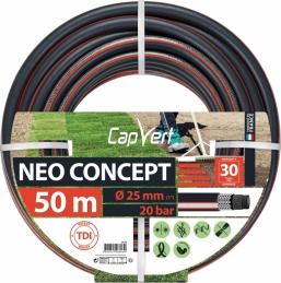 Tuyau d'arrosage Neo concept - 6 couches - 25 x 50 M - CAP VERT