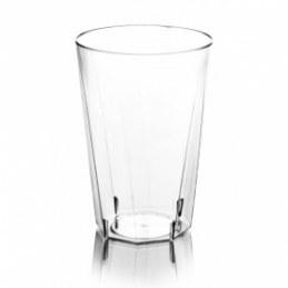 20 verres jetables plastique octogonaux 20cl