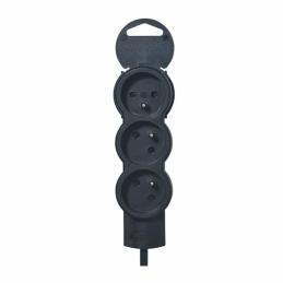 Rallonge 3 prises de courant - cordon 3 m - Noir - LEGRAND