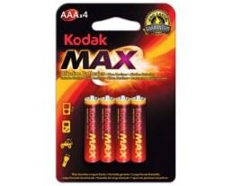 4 Piles LR03 - Gamme MAX Kodak