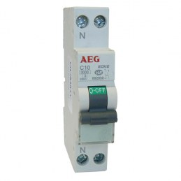 Disjoncteur phase neutre PH+N 10A - AEG