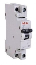 Disjoncteur phase neutre PH+N 6A - AEG