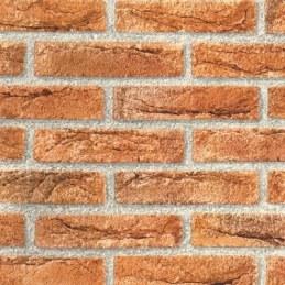 Adhésif brillant - Brique rouge - 15 m