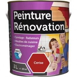 Peinture multi-surfaces - Rénovation - 2 L - Cerise - BATIR