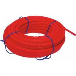 Tube polyéthylène réticulé gaine (P.E.R) - Rouge - 25 M - 10 x 12 mm