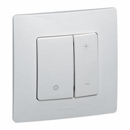 Variateur toutes lampes avec plaque - Eclat - Niloé - Blanc - LED - LEGRAND