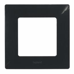 Plaque Niloé 1 poste - Onyx - LEGRAND