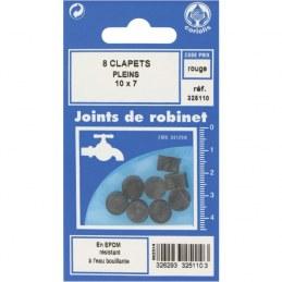 Joint Clapet plein Robinet - 10 x 7 mm - Lot de 8 - GRIPP