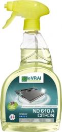 Dégraissant et désinfectant alimentaire - Prêt à l'emploi - Citron - 750 ml - LE VRAI PROFESSIONNEL
