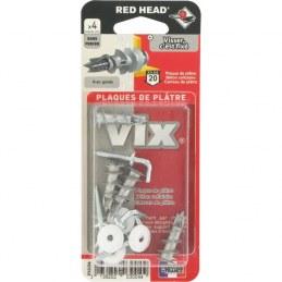 Cheville auto-taraudeuse tête fraisée Vix / Avec gond - 4,5 x 50 - RED HEAD