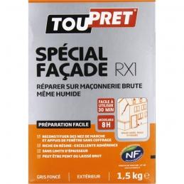 Enduit de rebouchage - Spécial façade RX1 - 1.5 Kg - TOUPRET