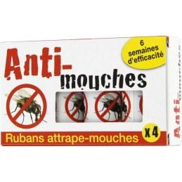 Ruban attrape-mouches - 4 rubans - FLORENDI