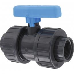 Vanne PVC taraudée - Femelle / Femelle - 20 x 27 mm - CAP VERT