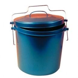 Poubelle 15 L bleu - étrier avec poignée métal - EDA