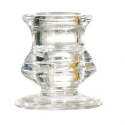 Bougeoir en verre transparent - Ø 50 mm - DEVINEAU