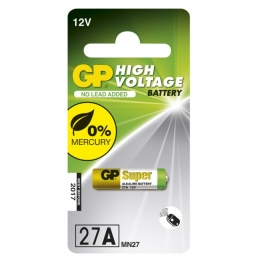 Pile alcaline - High Voltage - Ultra spéciale - 12V - 27AF - GP