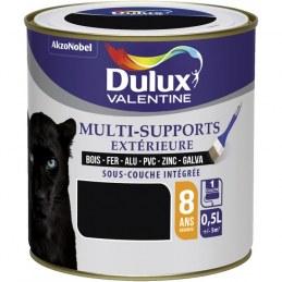 Peinture multi-supports extérieure - Satin - 0.5 L - Noir - DULUX VALENTINE